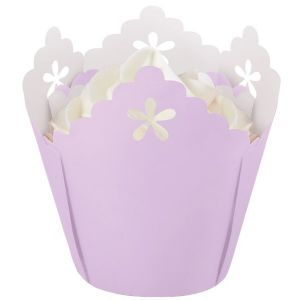 Lavender Flower Pleated Baking Cups